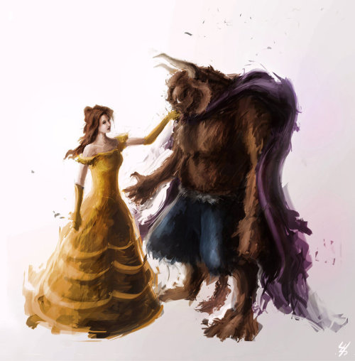 girlsbydaylight:  Beauty and the Beast by ~JohnathanSung