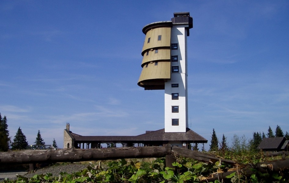 "retro-tech:  ""Built on the Czech/German border. This lookout tower was built in the 70s to wiretap German radio signals."" - from oobject.com"