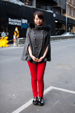 meetmeonthestreets:  Red pants, A'Beckett St
