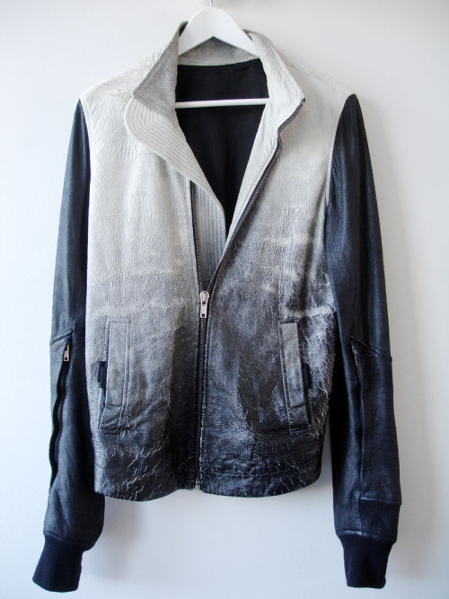 Rick Owens gradient leather jacket S/S '09  Rick Owens, Y U SO EXPENSIVE