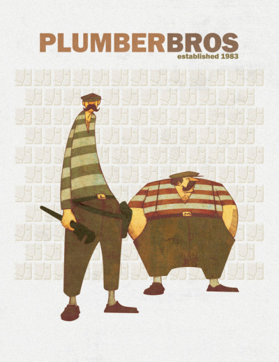 svalts:  Plumber Bros. - by Ian Herring Website | Blog | Store Prints available here at Etsy. (Via: pacalin)