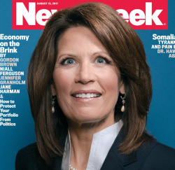 "ih8religion:  [Source] You Need to Pay Attention to Michele Bachmann  I know a lot of us aren't that political, and many haven't been paying much attention to the Republicans clawing all over each other for the presidential nomination next year, but if you have a Twitter account or read the news you have probably heard of Michele Bachmann, the congresswoman from Minnesota who is quickly floating to the top of the short list of GOP bigots likely to face Barack Obama at the ballot box next year. You know Bachmann—she's the one who married her queeny husband Marcus (who runs a clinic that offers ""ex-gay"" therapy for self-hating homos) after both of them experienced a vision from God. Well, despite the fact that she is a religious extremist with virtually no record of accomplishments in congress besides forwarding her hateful moral agenda, she won the Iowa Straw Poll over the weekend, one of the first real litmus tests to determine who is a ""top tier"" candidate for the 2010 election. Here's the thing about Michele Bachmann: she is not Sarah Palin. She is smarter, she's more highly regarded, she has a more drive and she has none of Palin's political baggage. She's also about twice as crazy. Want to know just how Bachmann feels about you? Here's what she said in 2004 re: the gays: ""It's a very sad life. It's part of Satan, I think, to say that this is 'gay.' It's anything but 'gay.' It leads to the personal enslavement of individuals. Because if you're involved in the gay and lesbian lifestyle, it's bondage. It is personal bondage, personal despair, and personal enslavement. And that's why this is so dangerous. We need to have profound compassion for people who are dealing with the very real issue of sexual dysfunction in their life, and sexual identity disorders."" Bachmann was faced with this gem as recently as this past weekend, when she appeared onMeet the Press after her Iowa victory, and she stood by it, adding stupidly, ""I am not anyone's judge."" In it, she displays her profound ignorance (or worse, her straight up denial of facts) by calling homosexuality a ""dysfunction"" and a ""disorder"", despite the fact that the American Psychiatric Association declassified homosexuality as a disorder in 1973, with the American Psychological Association following suit a few years later. We need to face a scary reality, guys. Barack Obama's approval ratings have dropped below 40 percent, the lowest they have ever been. Meanwhile, Michelle Bachmann, even with her long history of documented bigotry, is well on her way to securing the nomination (with only Texas governor Rick Perry posing much of a threat now, and he's about as bad as she is). Remember what happened in 2010, when the GOP took back the senate and the house? We need to face the real possibility that Michele Bachmann could be the next president. She supports a federal ban on gay marriage. She has vowed to reinstate Don't Ask Don't Tell. She opposes ENDA, which would defend you from discrimination in the workplace. She thinks the love you share with your partner is Satanic, dysfunctional and sad. Under President Bachmann, you can expect the momentum toward full civil rights we have achieved over the past few years (with little thanks to President Obama, it's true) to be rolled back. You'd see full Republican control of government, and the introduction and passage of who knows what kind of hateful legislation aimed and subjugating LGBT people even further. You need to pay attention to Michele Bachmann in the coming months, as she calculates her way to the presidency. And you need to be terrified.  Some crazy shit heading your way, USA! I H8 RELIGION"