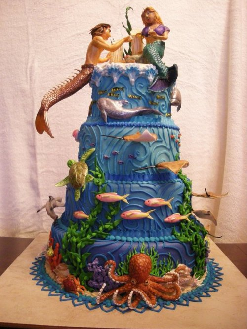 ask-marceline-zombieroses:  Lost Atlantis Cake by ~The-EvIl-Plankton