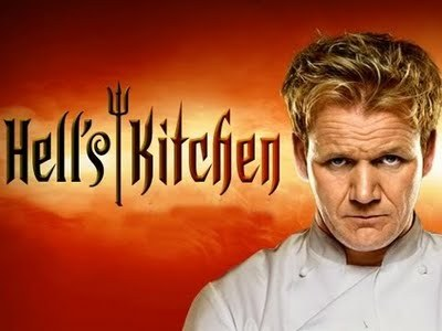 "30 Day TV Challenge Day 29- Current TV show obsession. ""Hell's Kitchen"". I might as well just admit that I love Gordon Ramsay so much, I would watch him brush his teeth at this point. Seriously though, I watch every show he is in, but ""Hell's Kitchen"" just happens to be my favorite. And don't even get me started on the uncensored DVD seasons. They are bloody hilarious. My favorite Gordon Ramsay-ism? ""You look like a baby rhinoceros trying to SHIT!"""