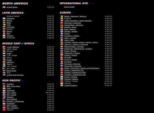 Worldwide release dates for the amazing spiderman :)