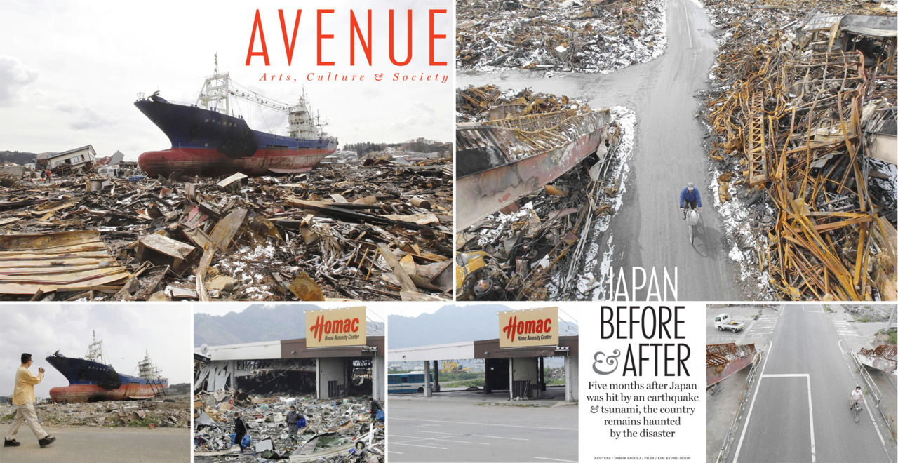 Japan Before & After: Five months after Japan was hit by an earthquake & tsunami, the country remains haunted by the disaster.
