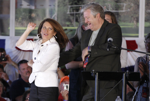 "hollybailey: Michele Bachmann is a self-described Elvis Presley superfan, blaring The King's music at virtually all of her campaign rallies. But she committed the ultimate fan faux pas at an event in South Carolina today. She asked her supporters to wish Elvis a ""happy birthday,"" when today is actually the 34th anniversary of his death. Oops!"