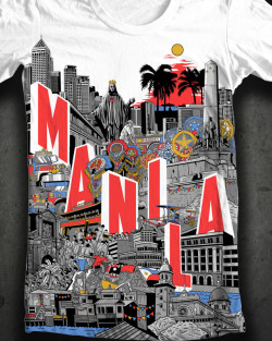 pinoytumblr:  Majestic Manila by Kevin Ang  majestic manila on a t-shirt