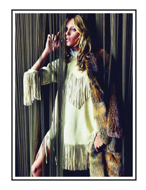 "Anja Rubik in ""Hippie Living"" for Vogue Paris"