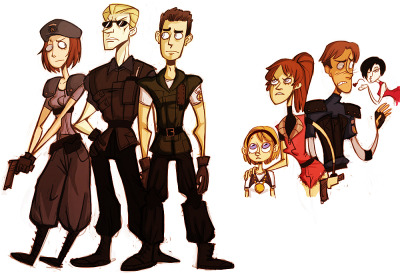 notstalkingyou:  re - doodles by~ spoonybards