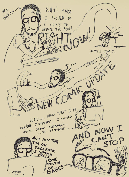 Quick comic I did yesterday. Now, if you excuse me, back to the light table. More comics from time to time in http://ca78comics.wordpress.com