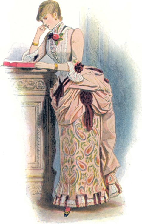 Portion of a fashion plate, 1883, La Mode Artistique
