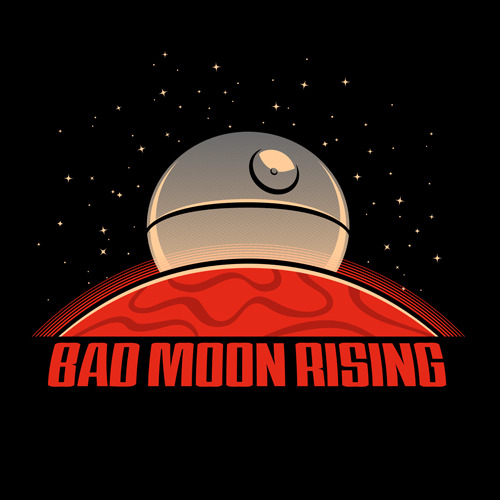 pacalin:    Bad Moon Rising - by Chris McVeigh Shirt available at RedBubble. twitter / flickr / facebook via Chris' tumblr: powerpig