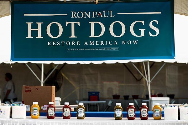 Ron Paul offers his dogs up for consumption.