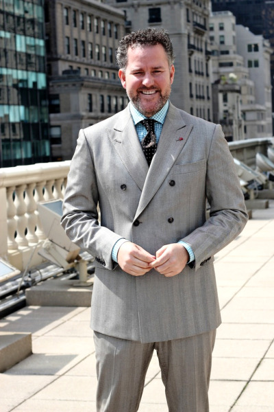 menofhabit:  Jim Shay of Isaia  Jim is OG. Also, Isaia's showroom balcony is next level Neapolitan pimp shit.