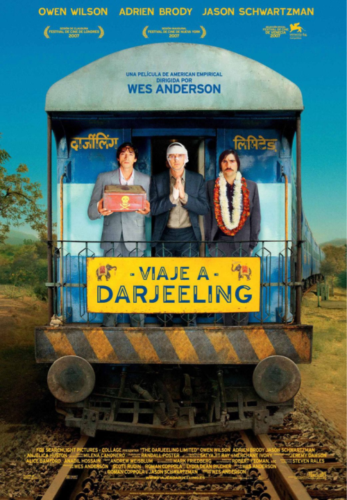 (#96) The Darjeeling Limited - 2007 - Directed by Wes Anderson  Yet another outstanding film from Wes Anderson. He has to become one of my favorite filmmakers over the course of each film he has released. I loved the chemistry between Jason Schwartzman, Adrien Brody, & Owen Wilson. The best parts of Wes Anderson's films are the characters & the settings, this film continues that tradition to great effect. Looking forward to his next film…