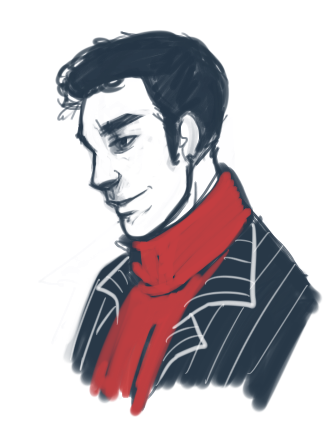 kind of drunk. Have Ianto in a scarf.