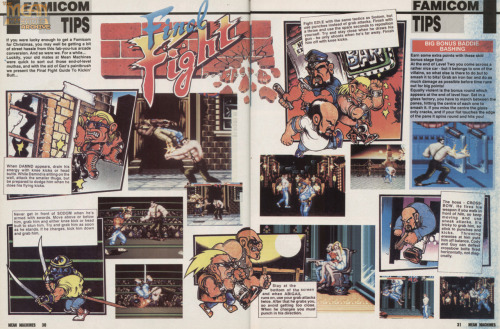 Final Fight spread from Mean Machines by Gary Harrod.