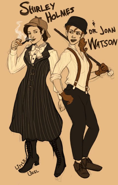smudgieflorence:  pilkopants:  littleliesl:  roundtop: Genderbent Sherlock Holmes in the dress you reblogged before? With or without Watson.I couldn't pass up having both of them there. That idea was actually fabulous and I'm happy you suggested it :DPoses partially (?!) referenced from posemaniacs.I can't help it. Everything there looks so sassy to me. EDIT: ALSO! This is the dress  http://littleliesl.tumblr.com/post/8965127737/wildwildeyes-preludes-and-prufrock  hot damnjoan   Wow I-I need to dress more like this.   sweet jesus