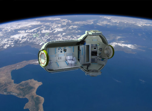 World's First Commercial Space Station Planned in Russia Called the Commercial Space Station, the orbiting space laboratory and hotel will be able to host up to seven people at a time. It is being planned under a partnership between the Russian companies Orbital Technologies and RSC Energia. The space station is expected to launch sometime between 2015 and 2016. The cost of individual trips may vary based on launch vehicle, duration and purpose of missions. Read more.
