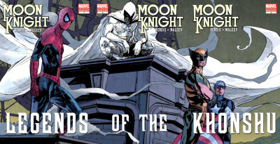 """Moon Knight #1, 2, and 3 V-v-variants""~ by Alex Maleev"