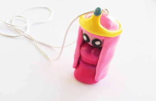 Princess Bubblegum (Adventure time) Necklace by WTFcharms