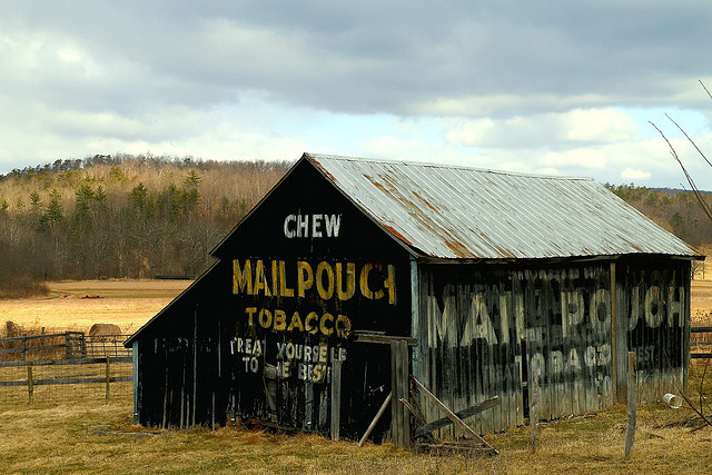coffeenuts:  Mail Pouch Barn - Route 50 - Hampshire County, WV USA (EXPLORE) by Dixon Marshall on Flickr.