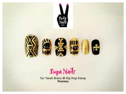 supanails:  Supa Nails for Yarah Bravo @ Hip Hop Kemp Preview 1