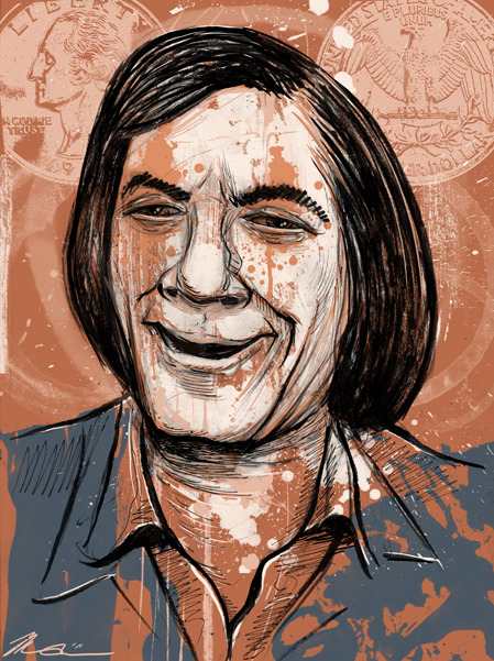 """Anton Chigurh"" by Melissa Dow Nihilistic evil, from the film 'No Country For Old Men.' It's Villain Week! Who doesn't love a great villain?"