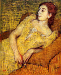 missfolly:  Edgar Degas - Seated Woman, 1885