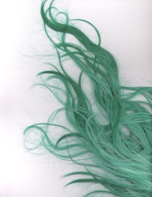 hair green blue green turquoise Ingrid Holm