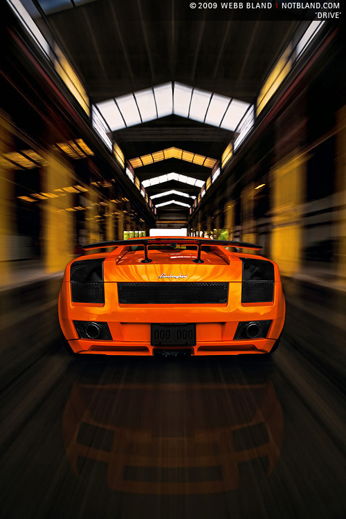 Lamborghini + Indoors = Fast Architecture (via Drive by *notbland on deviantART)