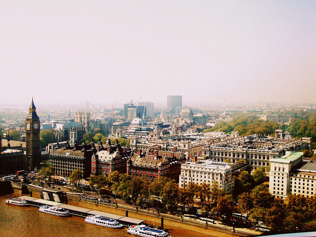 | ♕ |  View from the London Eye  | by © .Cinthya.  via get-to-know-cl : ysvoice : kathychiu