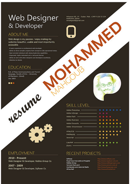 My Resume by mmahgoub on Flickr.Cool CV!