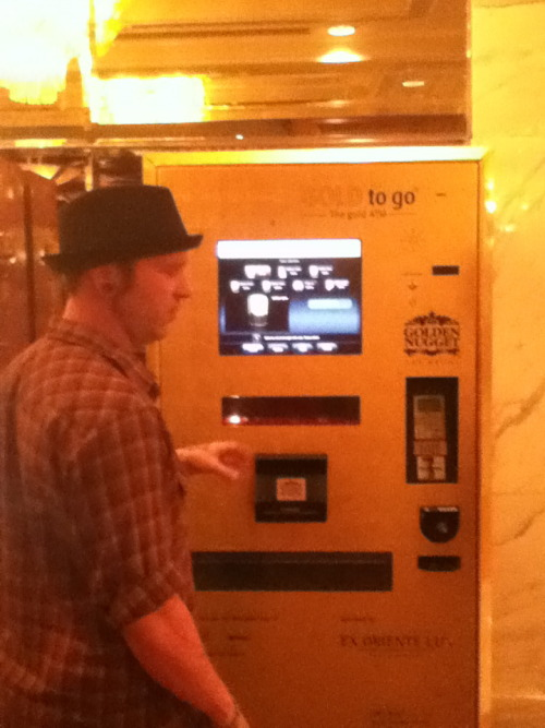 You can but gold in a vending machine in Vegas $2100 usd and ounce!