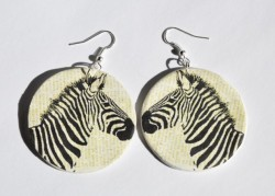 Zebra earrings ;)