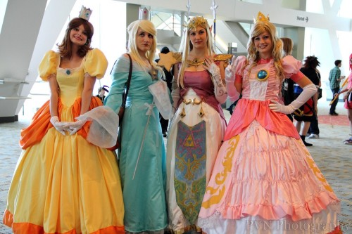 Princess Daisy, Princess Rosalina, Princess Zelda, and Princess Peach (via Best Cosplay Ever (This Week) - 08.15.11 - ComicsAlliance | Comic book culture, news, humor, commentary, and reviews)