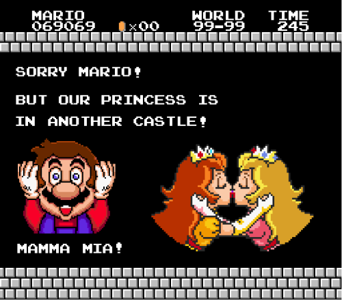 it8bit:  Montage: Peach and Daisy  - by Verónica Arrias facebook / flickr / twitter