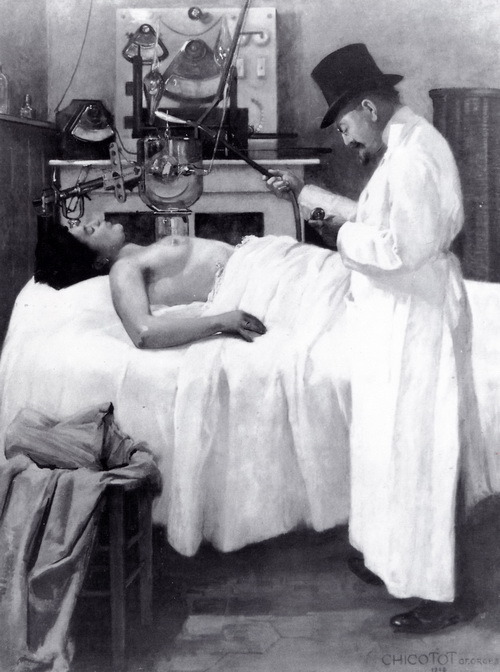 sutured-infection:  Dr. Georges Chicotot, 1908