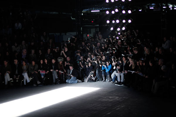 Photographers at Alexander Wang's Fall/Winter 2011-2012 show.