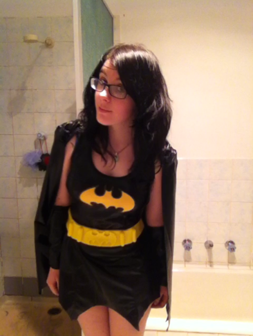 prettylittlekillers:  My batgirl costume for John party