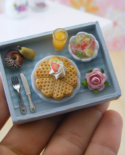 Incredibly and brilliantly adorable miniature foods, most done to a 1-inch scale. The photo links to Shay Aaron's Flickr page where you can see more of his miniature collections. Warning, though: I don't know if it's because I am Asian, but they are too terribly cute for words. Seriously.