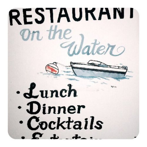 Restaurant sign. Lake George