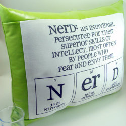 lydiaslovelies:  Nerd Pillow by ShopGibberish