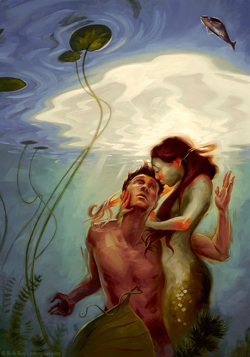 theartofanimation:  Rob Rey  see mermaid, will reblog