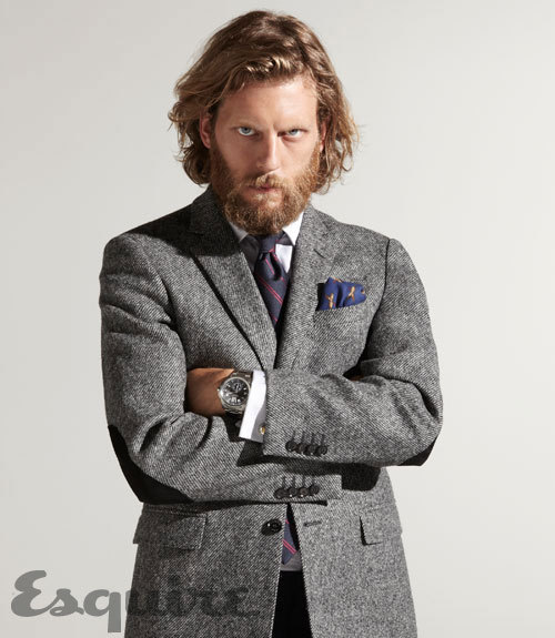 I'm in the market for a very substantial looking grey blazer/sport coat for this coming fall and winter. This two-button wool jacket from Burberry London is deadly. I'd love to own this jacket.