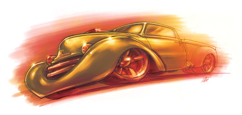 I was asked to do a pre-viz illustration for Barry's Bedford truck hotrod build and here's the pic. You can check out Barry's magazine, NTQ Magazine for free online to see some sweet NZ rods!