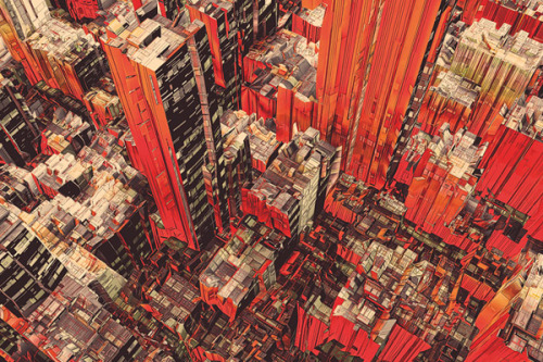 Cities Illustration by Olschinsky