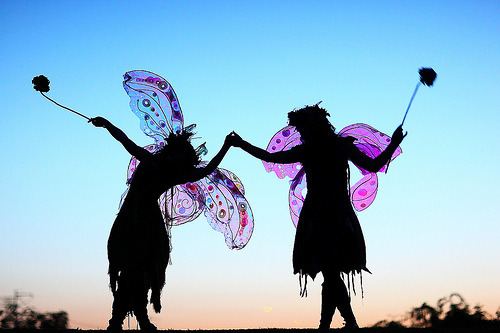 raspberrytart:  Magical Twig and Zinnia Silhouette (by gbrummett)