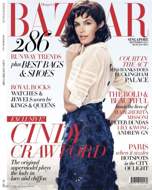 Cindy Crawford in Harper's Bazaar Singapore